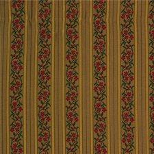 Beige/Yellow/Burgundy Botanical Decorator Fabric by Kravet