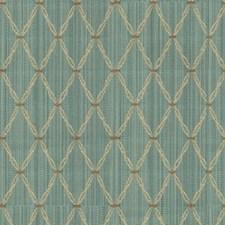 Light Blue/Beige/Brown Diamond Decorator Fabric by Kravet