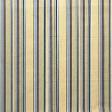 Butter/Navy Stripes Decorator Fabric by Lee Jofa