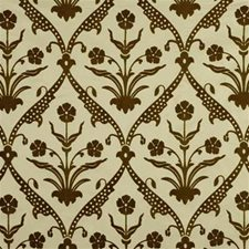 Mocha Print Decorator Fabric by Groundworks