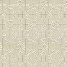 Cream Geometric Decorator Fabric by S. Harris