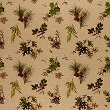 Pine Lichen On Natural Decorator Fabric by Schumacher