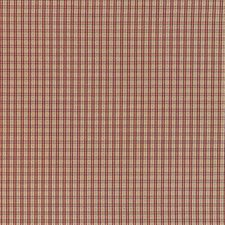Beige/Burgundy/Red Plaid Decorator Fabric by Kravet