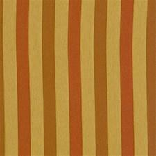 Yellow/Rust Stripes Decorator Fabric by Kravet