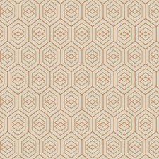 Apricot Geometric Decorator Fabric by Fabricut