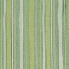 Green/White/Light Green Stripes Decorator Fabric by Kravet