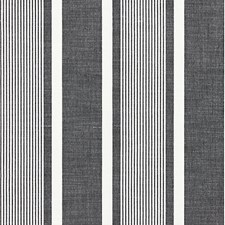 Carbon CHATHAM STRIPES Decorator Fabric by Scalamandre