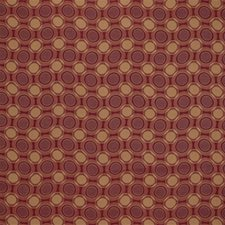 Burgundy/Red/Rust Geometric Decorator Fabric by Kravet