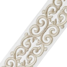 Embroidery Linen Trim by Stroheim