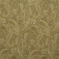 Brown/Green/Yellow Paisley Decorator Fabric by Kravet