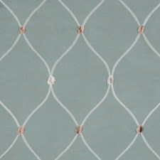 Chambray Embroidery Decorator Fabric by Fabricut