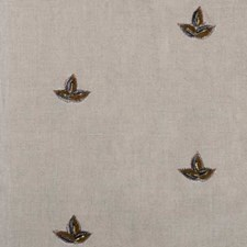 Linen Embroidery Decorator Fabric by Highland Court