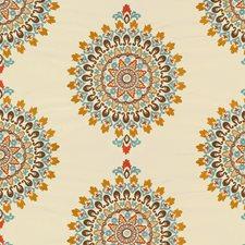 White/Orange/Brown Modern Decorator Fabric by Kravet