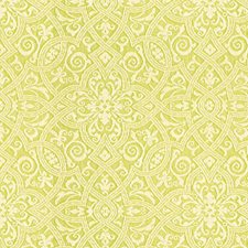 Green/Beige Damask Decorator Fabric by Kravet