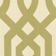 White/Green Modern Decorator Fabric by Kravet