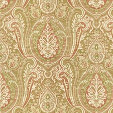 Beige/Burgundy/Red Ethnic Decorator Fabric by Kravet
