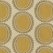 White/Grey/Yellow Modern Decorator Fabric by Kravet