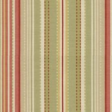 Light Green/Pink/Beige Stripes Decorator Fabric by Kravet