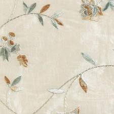Natural/aqua Decorator Fabric by Duralee