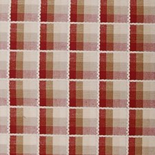 Natural/red Decorator Fabric by Duralee