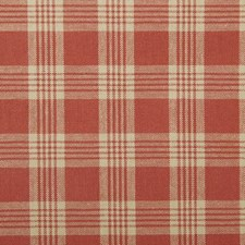 Tomato Plaid Decorator Fabric by Duralee