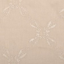 Ivory Embroidery Decorator Fabric by Duralee
