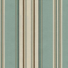 Aqua Stripes Decorator Fabric by Kravet