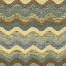 White/Blue/Brown Contemporary Decorator Fabric by Kravet
