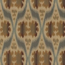 Blue/Beige/Brown Ikat Decorator Fabric by Kravet