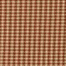 Natural/Red Plaid Decorator Fabric by Duralee