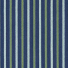 Blue Stripe Decorator Fabric by Duralee