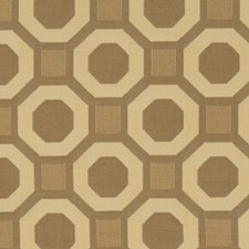 Tan Geometric Decorator Fabric by Fabricut