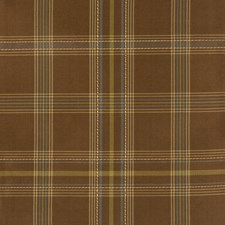 Chocolate Check Decorator Fabric by Fabricut