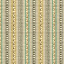 Beige/Orange/Teal Stripes Decorator Fabric by Kravet