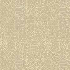 Ivory/Beige Botanical Decorator Fabric by Kravet