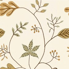 Beige/Teal/Sage Botanical Decorator Fabric by Kravet