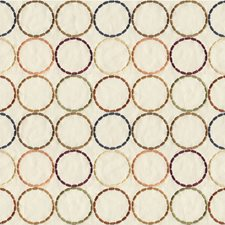 Beige/Orange/Brown Geometric Decorator Fabric by Kravet
