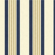Blue/Beige/Ivory Stripes Decorator Fabric by Kravet