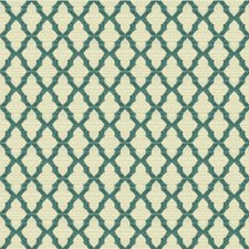 Ivory/Light Blue Diamond Decorator Fabric by Kravet