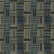 Black/Blue/Silver Plaid Decorator Fabric by Kravet