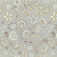 Silver Grey Botanical Decorator Fabric by Kravet