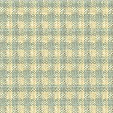 Light Blue/Ivory Check Decorator Fabric by Kravet