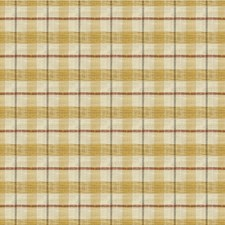 Gold/Ivory/Brown Plaid Decorator Fabric by Kravet