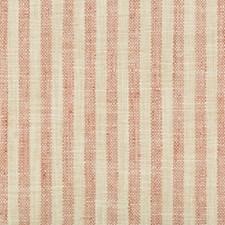 Ivory/Pink Stripes Decorator Fabric by Kravet