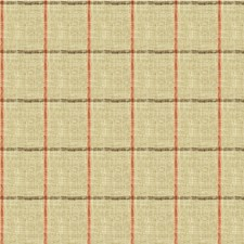 Beige/Coral/Brown Check Decorator Fabric by Kravet