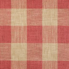Red/Beige Check Decorator Fabric by Kravet