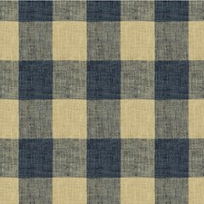 Blue/Beige Check Decorator Fabric by Kravet