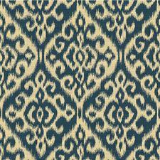 Blue/Beige Damask Decorator Fabric by Kravet
