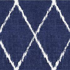 Dark Blue/Ivory Diamond Decorator Fabric by Kravet