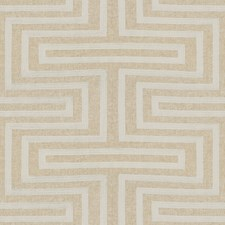 Ivory/Beige Modern Decorator Fabric by Kravet